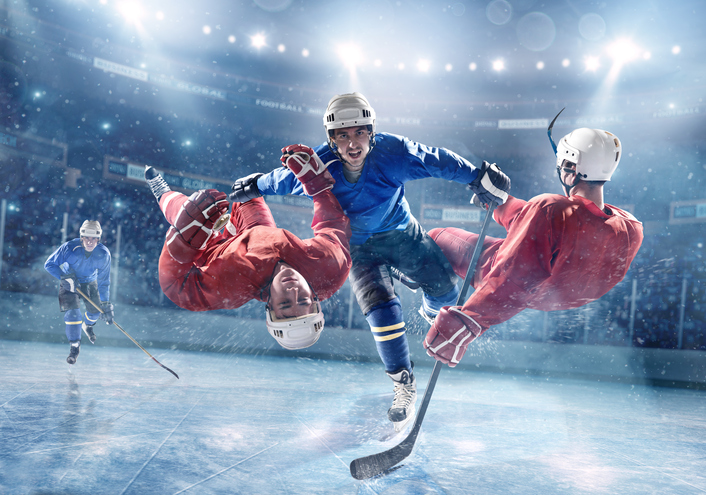 hockey-évitez les blessures