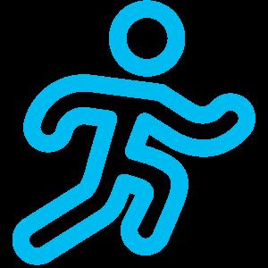 Logo clinique coureur