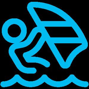 Logo planche à voile