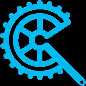 Logo clinique cycliste